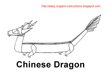 Here Is Origami Instructions To Fold A Chinese Dragon It Easy Follow
