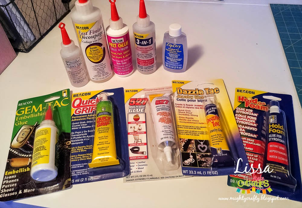 Beacon Adhesives product review -- www.MightyCrafty.me