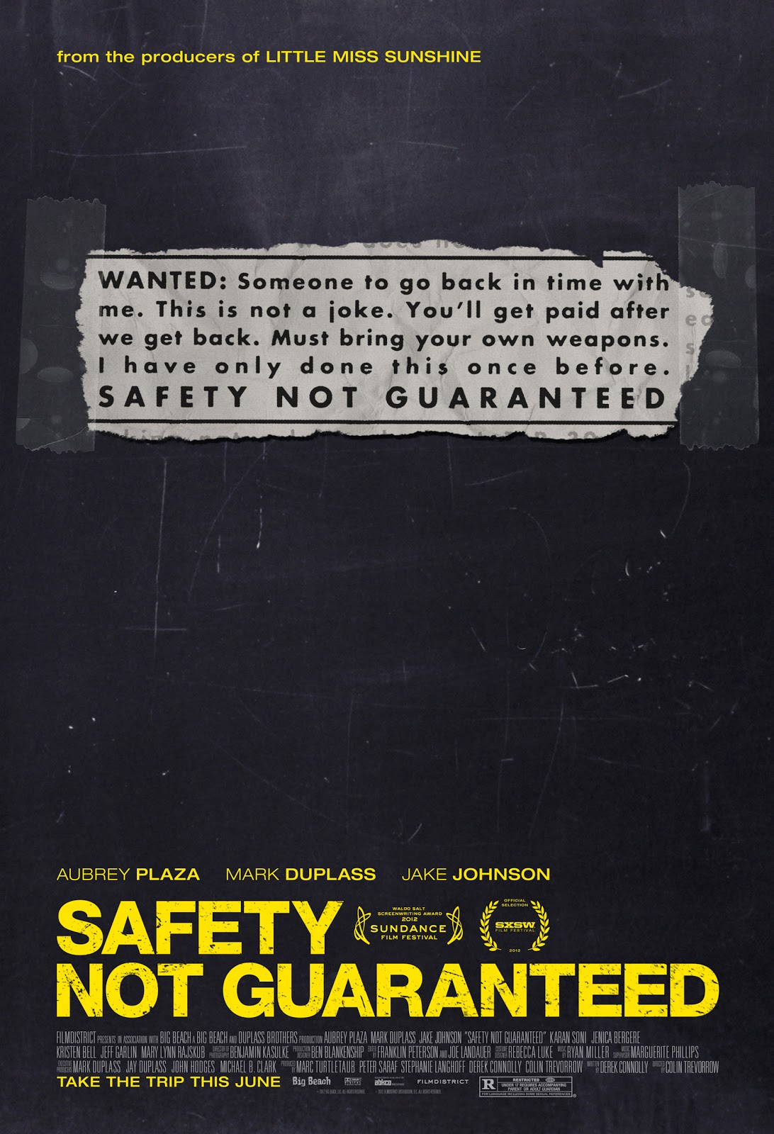 FREE MOVIES DOWNLOAD: Safety Not Guaranteed (2012) free Comedy ...