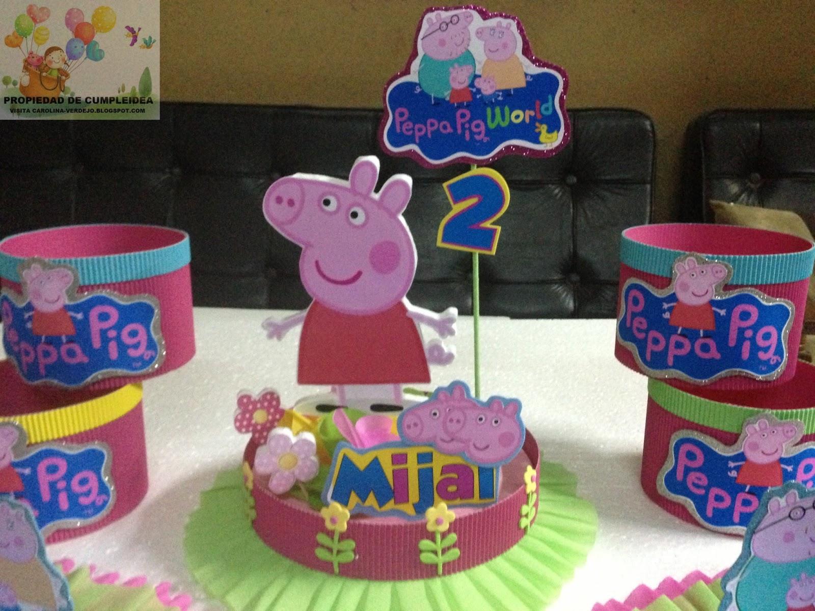 Decoraciones infantiles peppa pig for Mesa de peppa pig