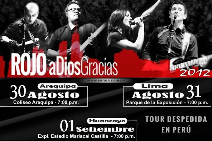 ROJO en Arequipa, Lima y Huancayo - 30, 31 de Agosto y 01 de Set