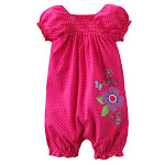 JUMPING BEANS ROMPER HOT PINK POLKADOTS RM20