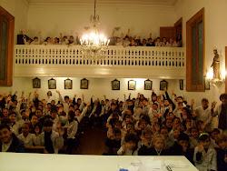 alumnos Colegio Ramos Mexia en la Misa del Sagrado Corazon