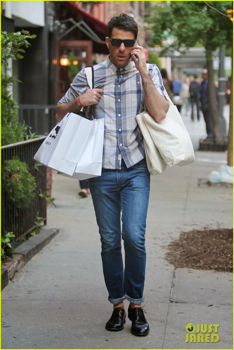 Celeb Diary Zachary Quinto In New York