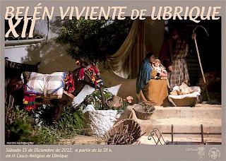 Cartel Belén Viviente en Ubrique (Cádiz) 2012