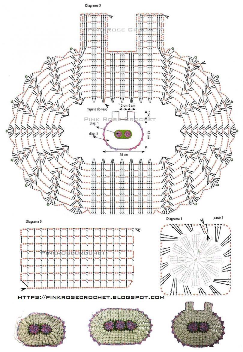 Вязание крючком органайзер схемы