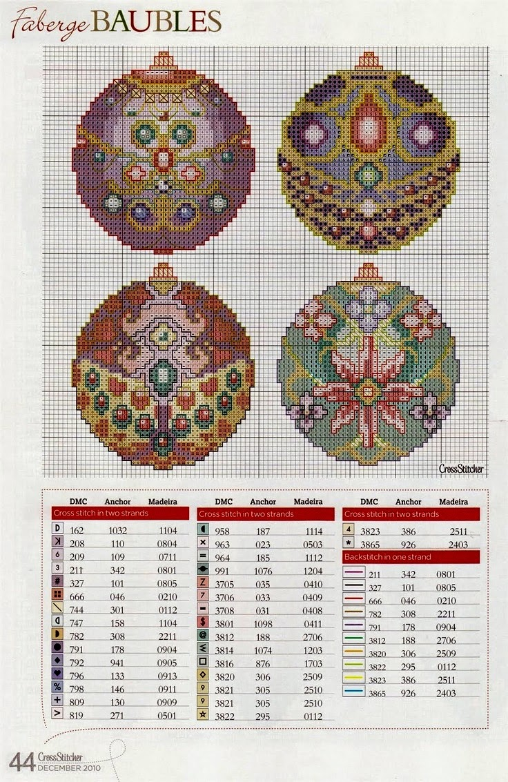 Схемы новогодней вышивки на пластиковой канве6