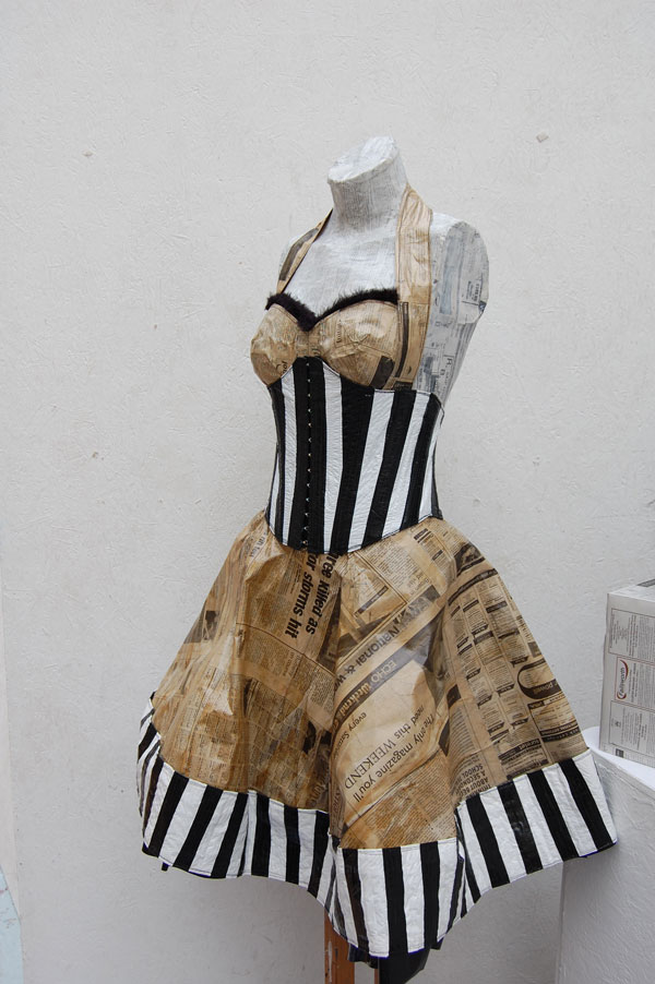 Dress From Recycled Materials