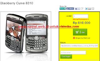Blackberry Curve 8310 Cari Uang lewat ekiosku.com nasrul.web.id
