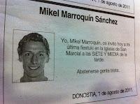 noticias curiosas esquela diario vasco mikel marroquin