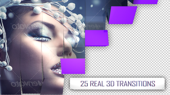 VideoHive 25 3D Transitions Pack