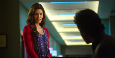Hot Kriti Sanon in Blue Tunic : Dilwale Movie