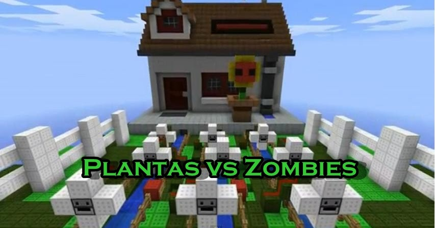 Minecraft mods texturepacks y mucho mas mapas for Como hacer la casa de plantas vs zombies en minecraft