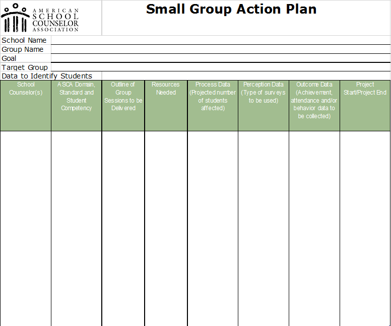 how to write an action plan counselling