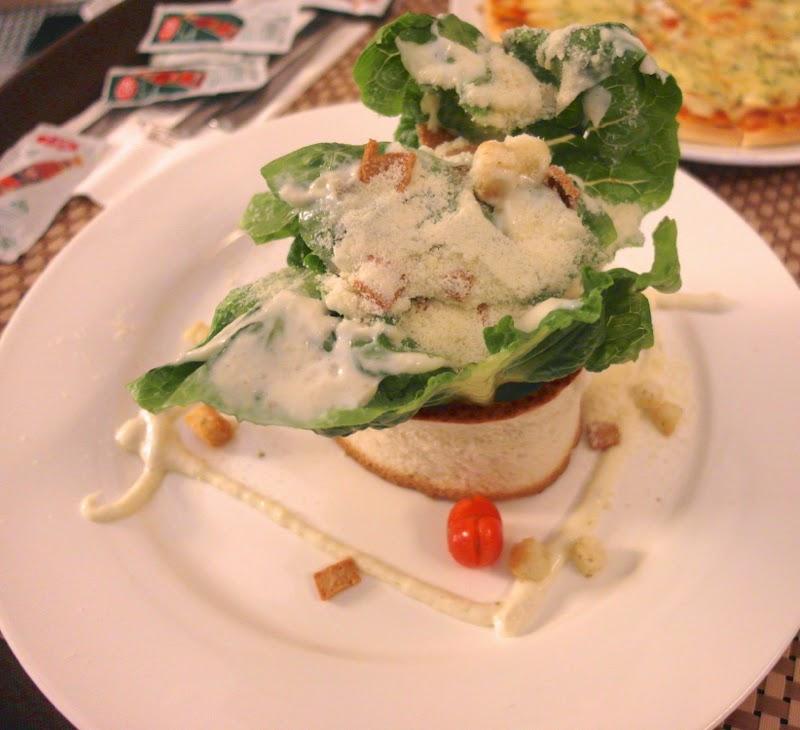 KSL Resort Room Service Caesar Salad and Pizza Malaysia Johor Bahru lunarrive travel blog