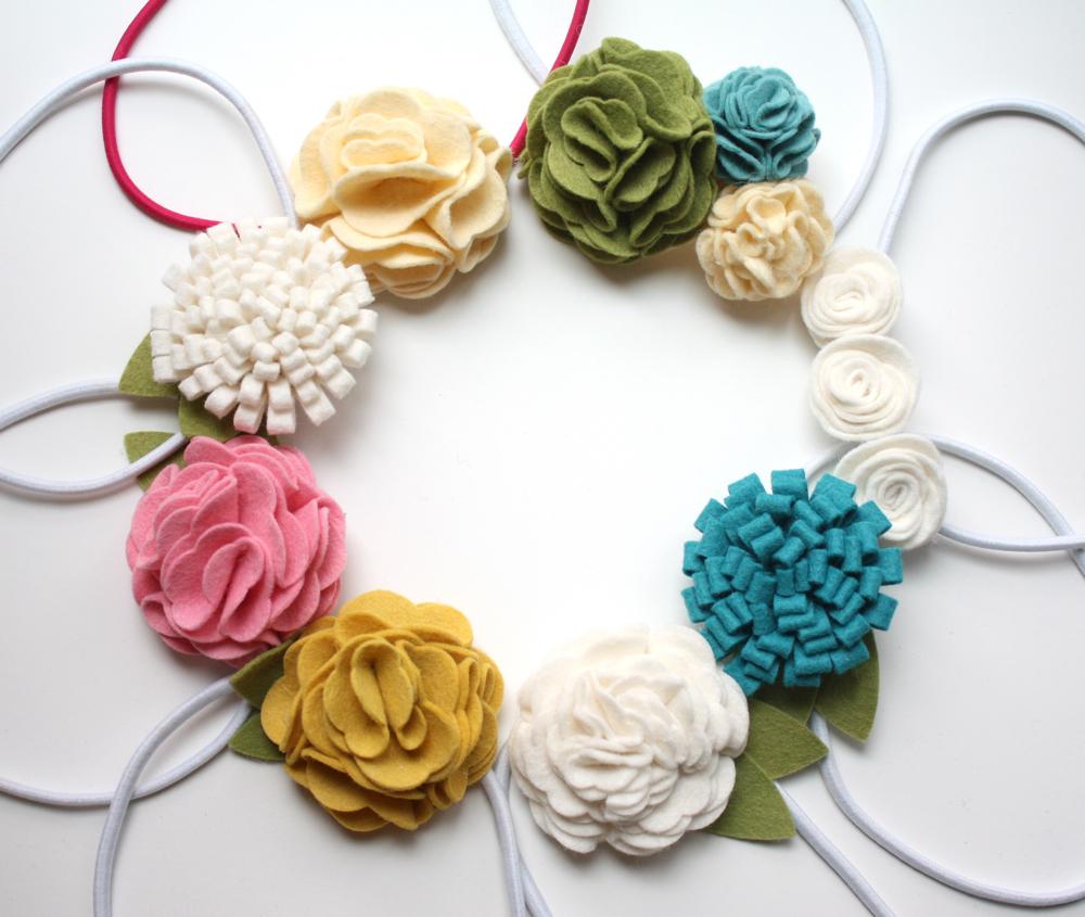 Felt flowers easy layered flower tutorial - Manualidades para hacer en casa y vender ...