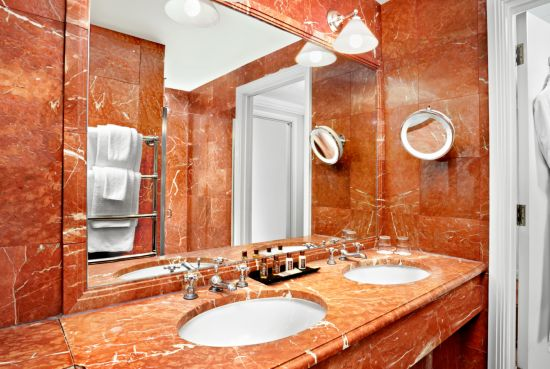 The Chatsworth Bathroom Is Designed With A Pinkish Red Marble In Mind It Is Allowed To Be A Little Darker Than The Other Bathrooms As The Chatsworth