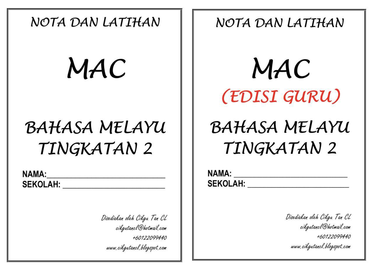 NOTA DAN TUISYEN BAHASA MELAYU KENDIRI (TINGKATAN 2) – MAC