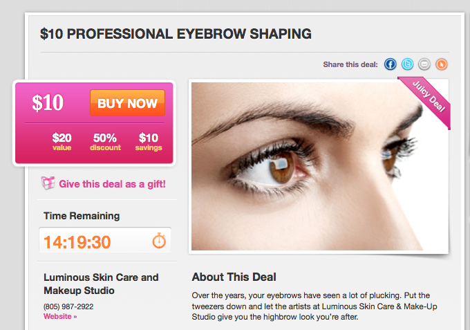 Hot Deal Juiceinthecity Get Your Eyebrows Done Cheap