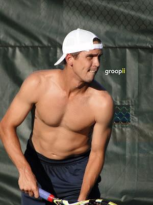 Ryan Sweeting Shirtless at Cincinnati Open 2010