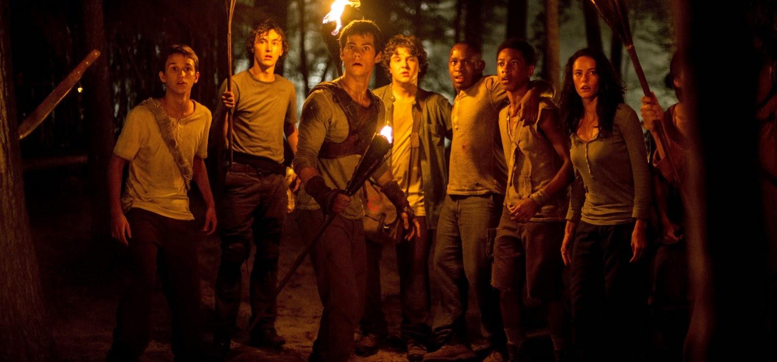 Cena inédita da adaptação Maze Runner - Correr ou Morrer, com Dylan O'Brien e Will Poulter