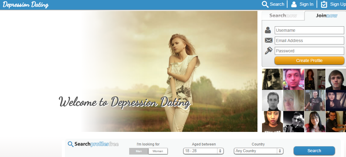 Dating site depressing