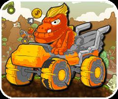 Khủng long đua xe, chơi game dua xe online