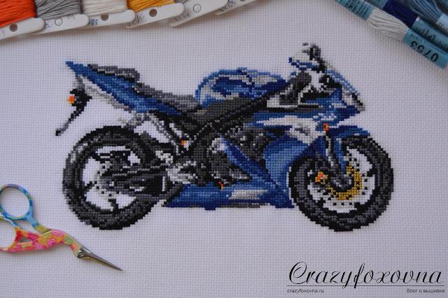 Вышивка крестом Мотоцикл