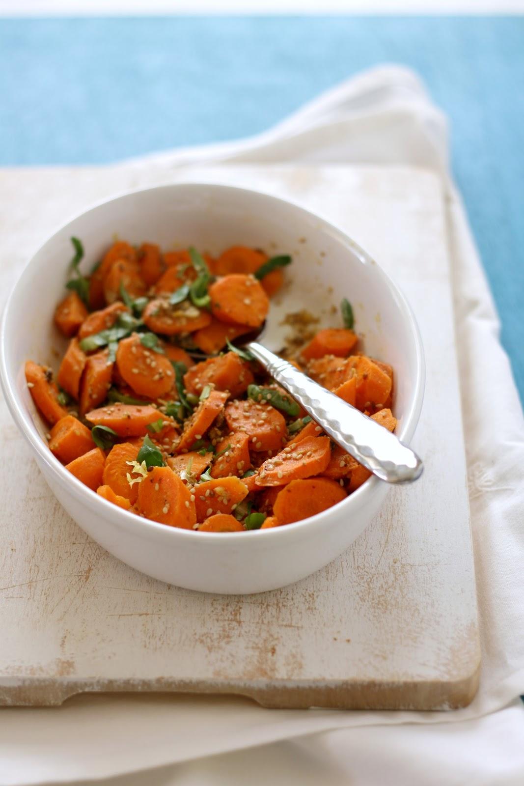 Zanahorias al horno con vinagreta de AMETLLA+ y sésamo ...