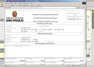 NeXT ERP NFe NFSe Prodam RPS São Paulo