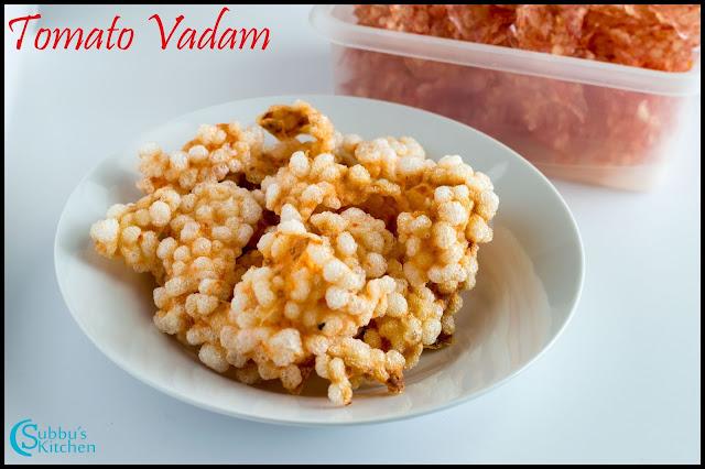 Tomato Sago Papad Recipe | Thakkali Jevvarasi Vadam Recipe | Tamatar Sabudana Papad Recipe