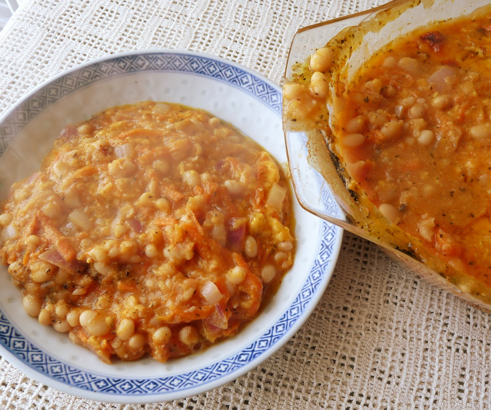 Seasonal Ontario Food: Cheesy Baked Beans in Tomato Sauce