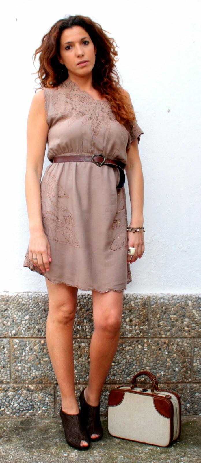vestido verano marrón