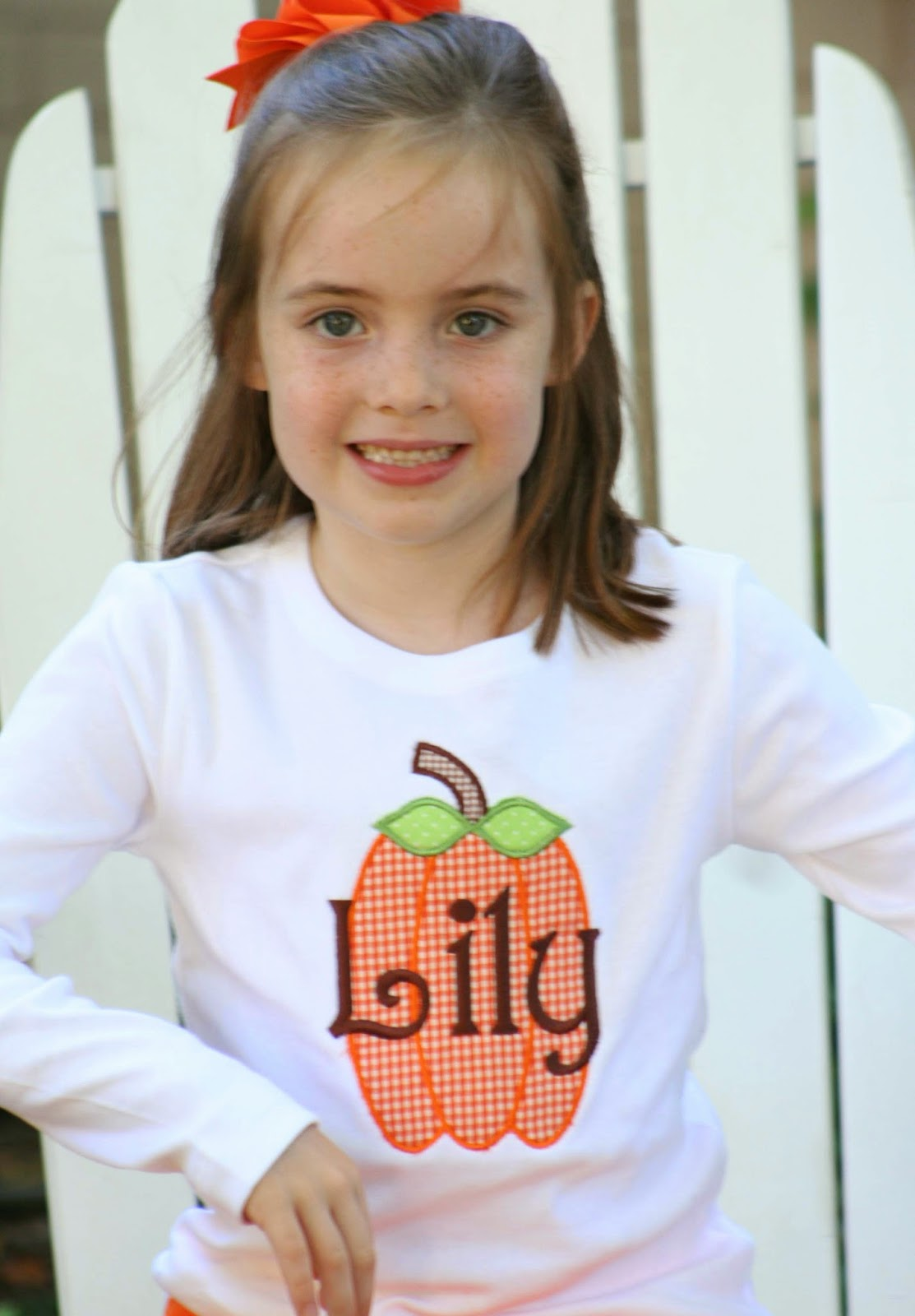 child's personalized pumpkin shirt