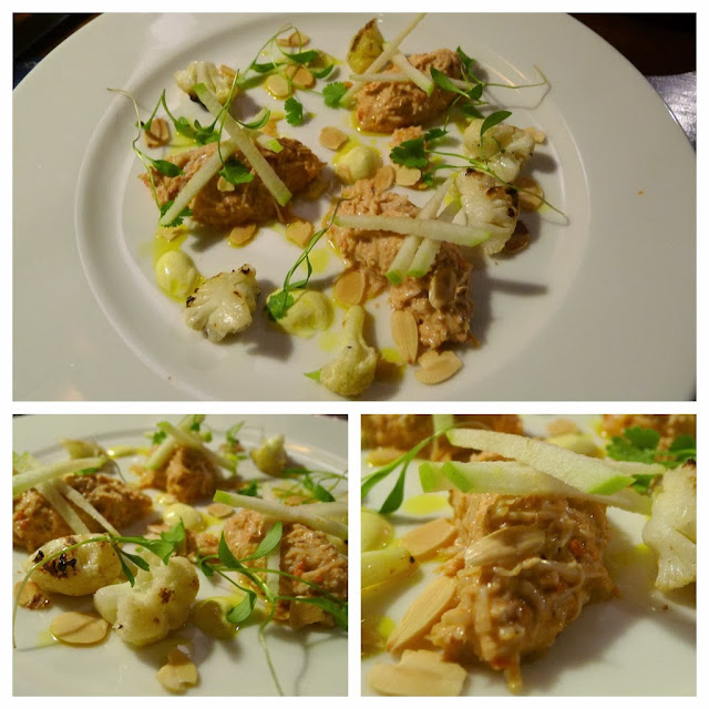 Dressed crabwith lime, roast cauliflower, green apple & curry ...
