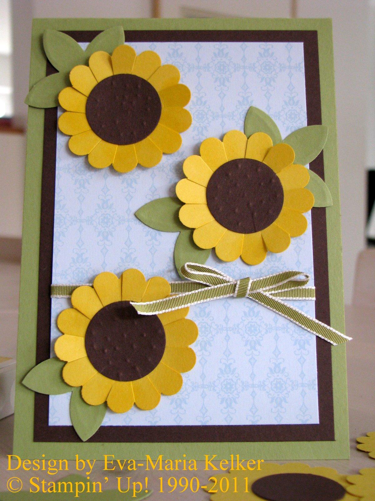 die Stempelküche - Stempeln, Scrappen, Träumen: September 42 - Einladungskarte Sonnenblume