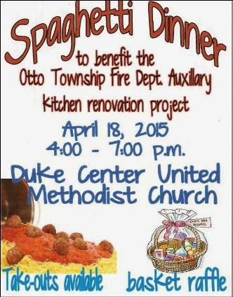 4-18 Spaghetti Dinner Otto Fire Dept