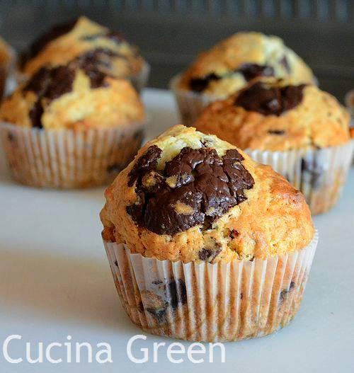 ricetta muffins cioccolato panna
