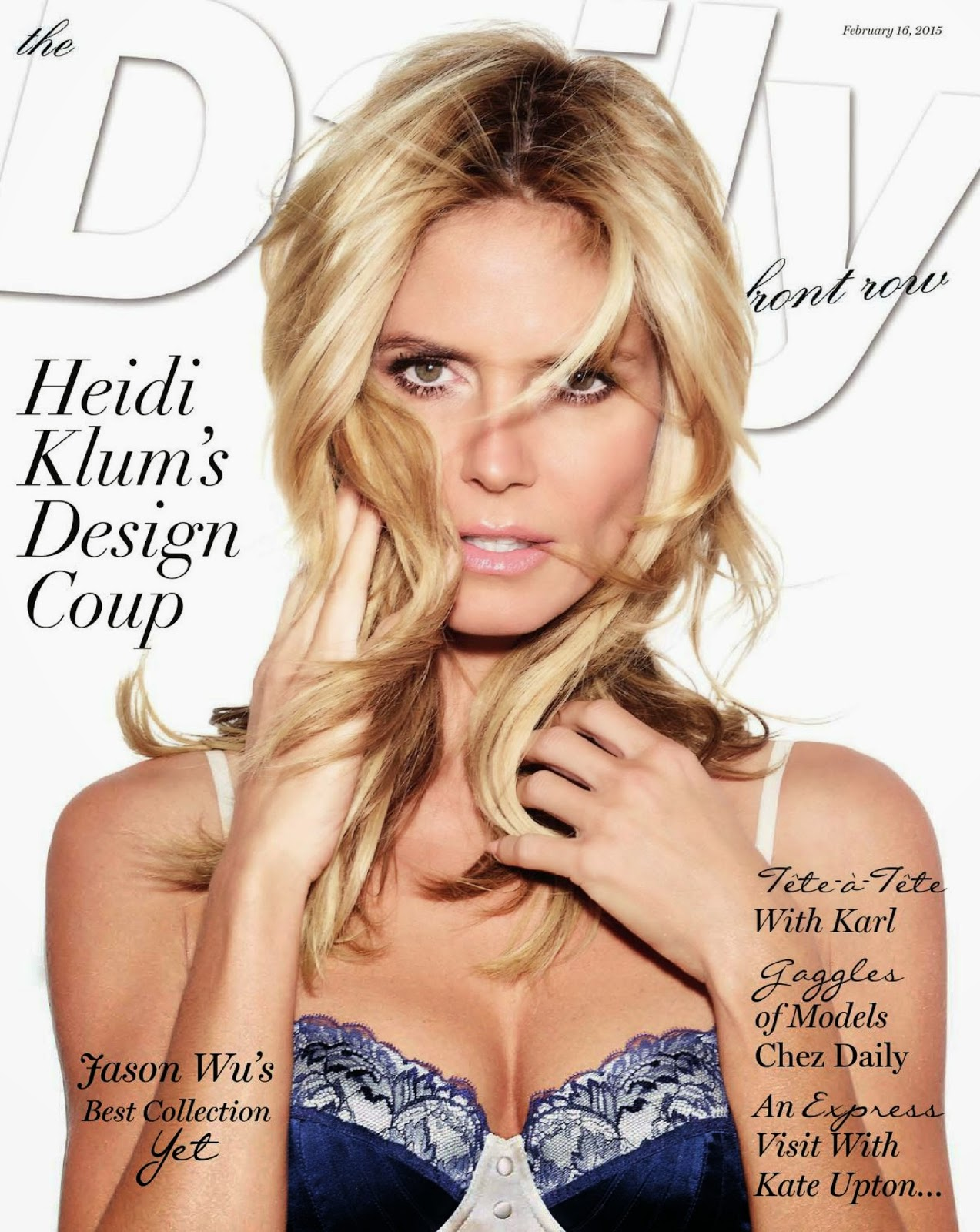 SuperModel: Heidi Klum - Daily Front US February 2015