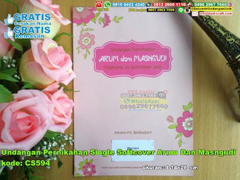 Undangan Pernikahan Single Softcover Arum Dan Masngudi