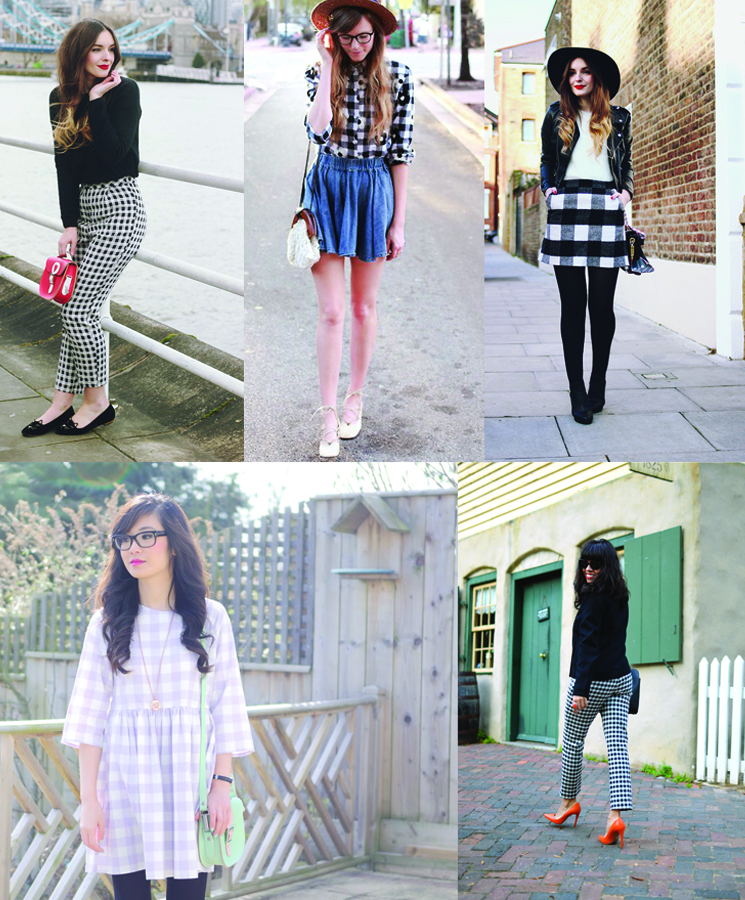 Fashion bloggers wearing gingham