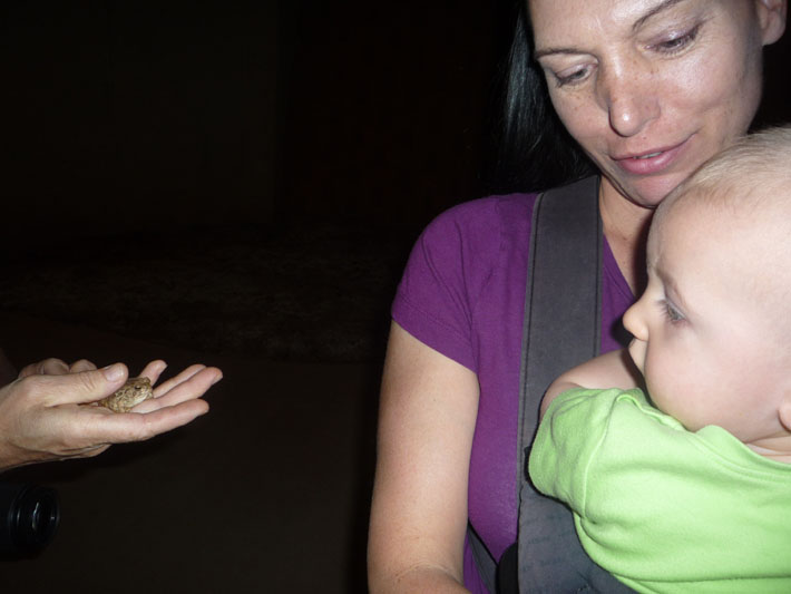 Tanya, Tristan and a frog