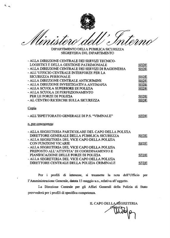 Lpd ministero dell 39 interno 555 doc c pamm aord 7304 11 for Ministero interno p iva