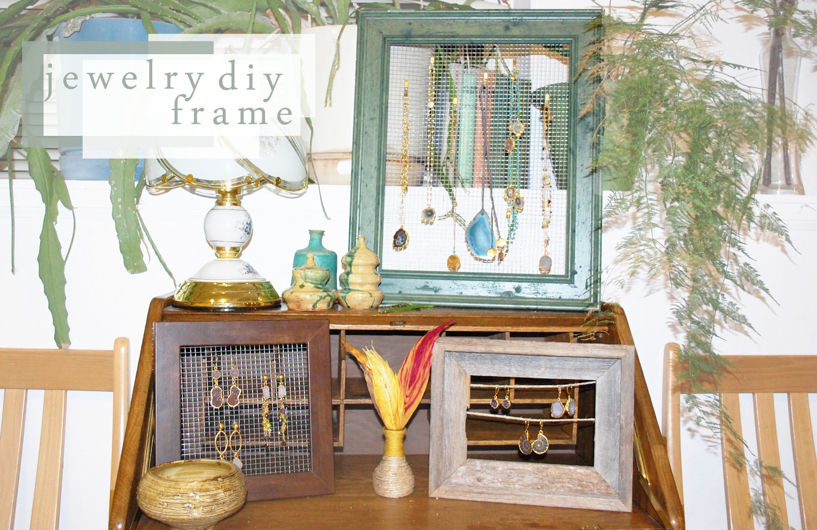 A Diamond Mind: DIY PICTURE FRAME JEWELRY HOLDER