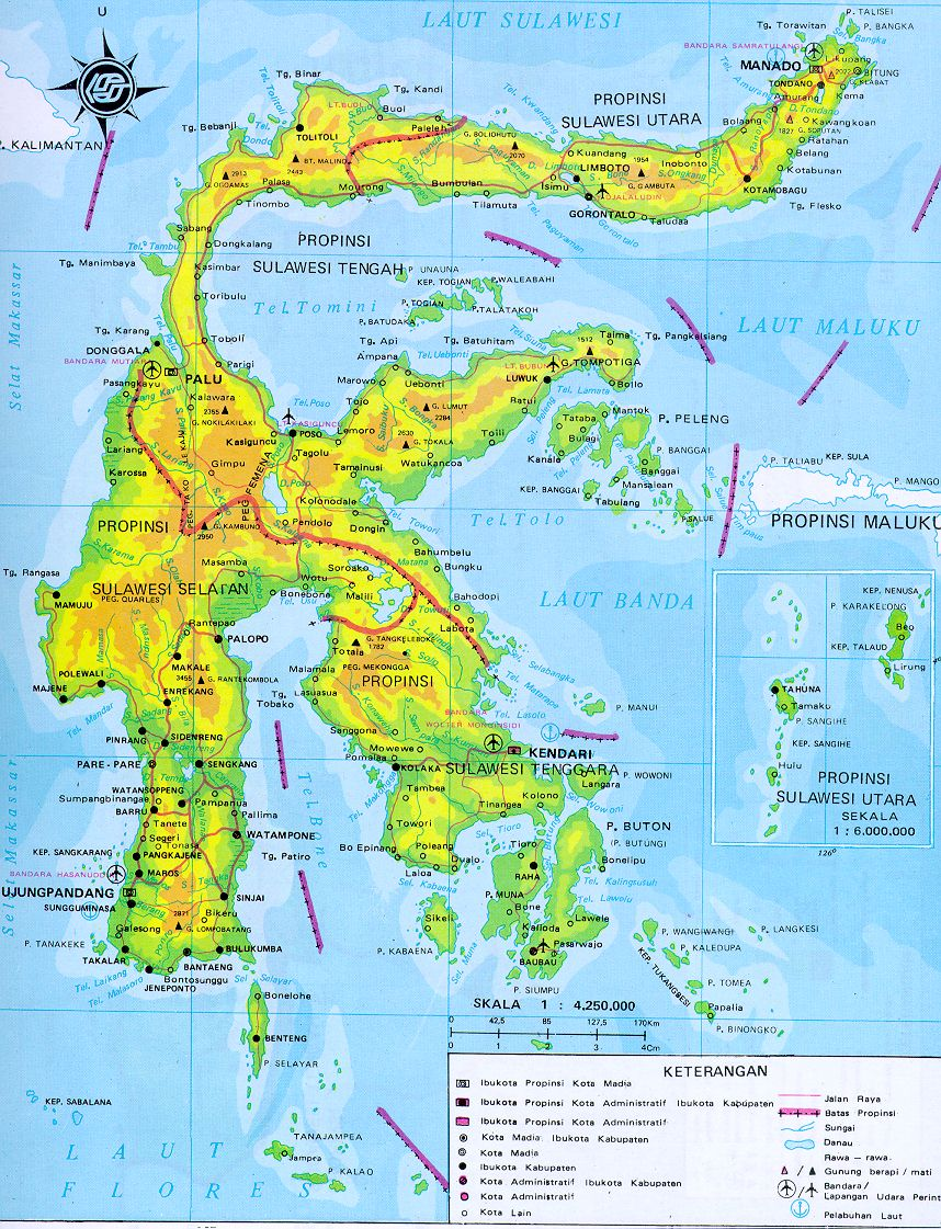 Download this Sulawesi Island Map picture