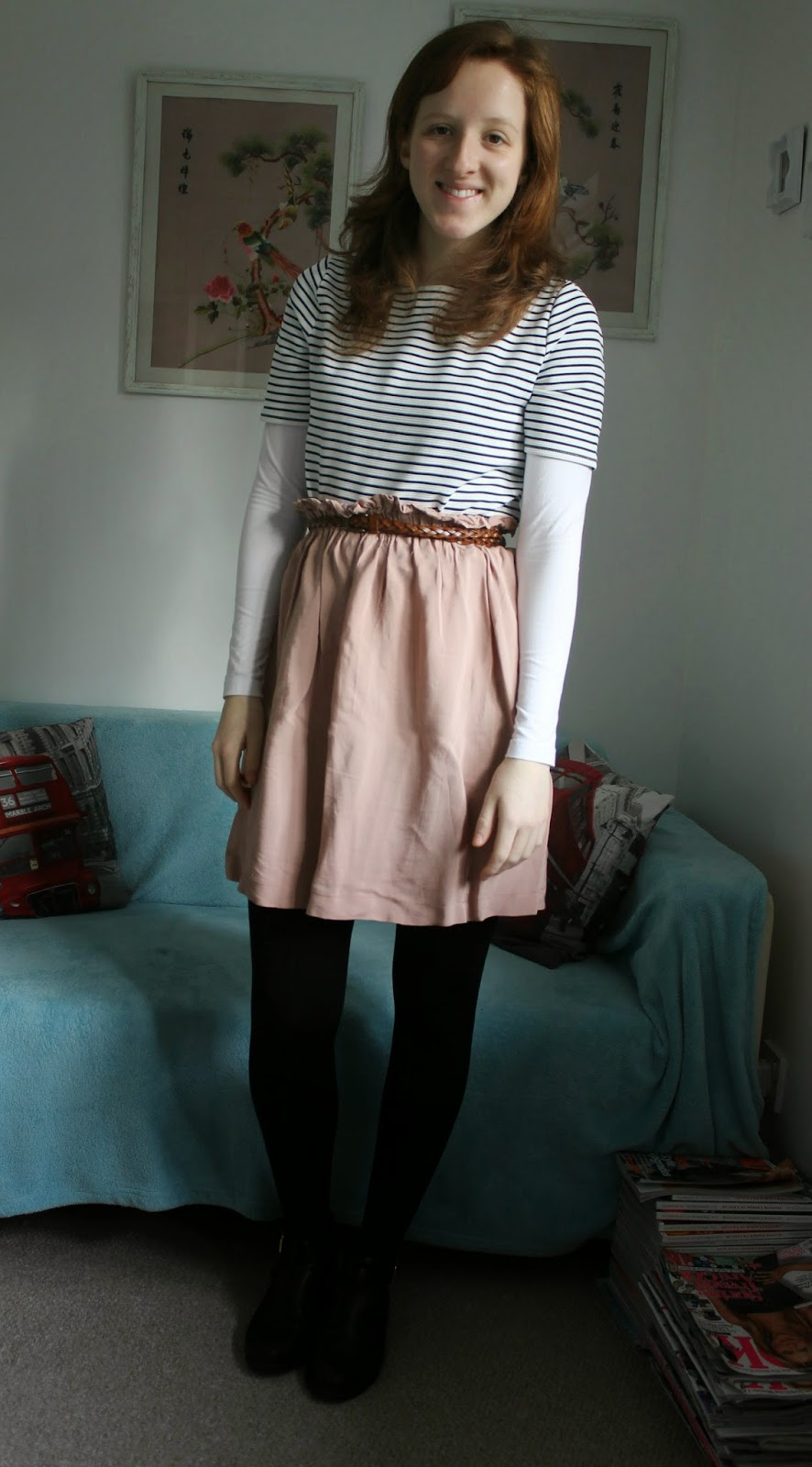 OOTD: A favourite skirt and a little French chic... with New Look, Primark and Warehouse