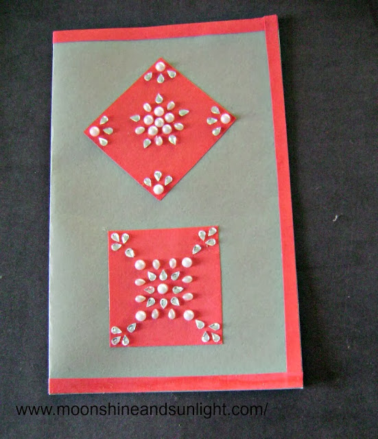 traditional diwali card