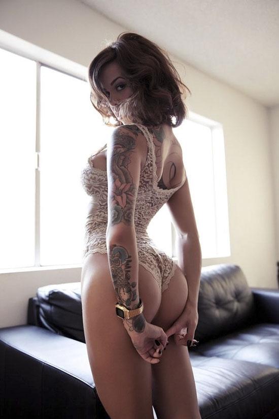 tattoo girl great body inked