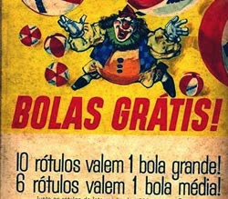 Promoção do Nescau nos anos 70 com bolas grátis.