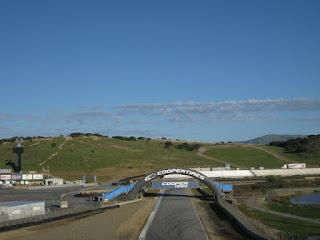 Straightaway leading to Turn 4, Mazda Raceway Laguna Seca, Salinas, California